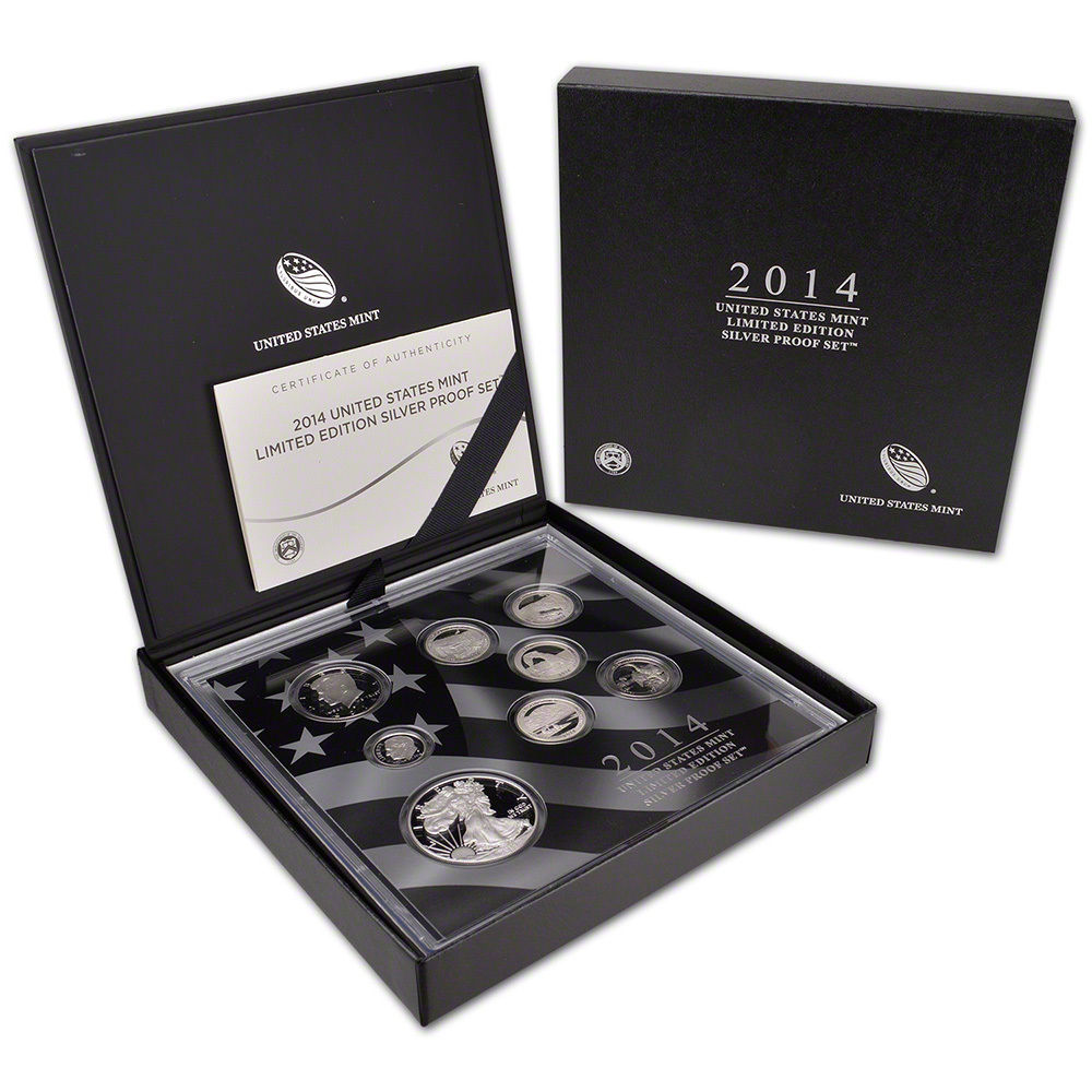 2014 Limited Edition Silver Proof Set United States Mint Original Packaging Box