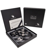 2014 Limited Edition Silver Proof Set United States Mint Original Packag... - €179,45 EUR