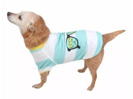Sun Squad Pet Shirt with UPF 50+ Sun Protection - Blue & White Stripes -... - $9.90