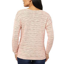 NEW Women's Leo & Nicole Ladies' Pointelle Sweater Pueblo Rose image 3
