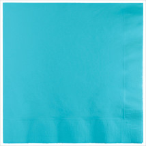 3 Ply 1/4 Fold Dinner Napkins Pastel Blue/Case of 250 - £30.84 GBP