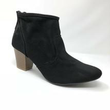New Quipid Black Ankle Bootie Women Size 8 Faux Microfiber Faux Suede Rix - $28.49