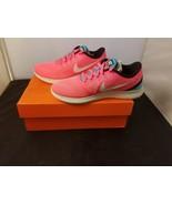NIB Nike Size 6 Womens Free Run Racer Pink & White Bright Running Shoes ... - $67.82