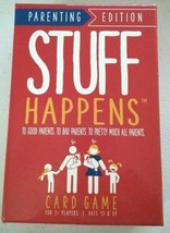 Stuff Happens Parenting Edition Funny Family Card Game Teenagers Misery Index - $16.86