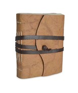 Nepali Expedition Rustic Leather Journal with Traditional Handmade Lokta... - $36.12