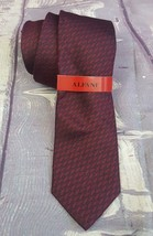 NEW Alfani Men's Classic Neck Tie Silk  Murray Geometric Pattern Wine - $9.49
