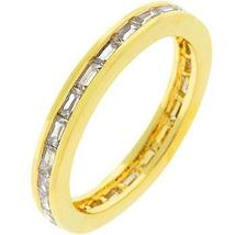 Golden White Eternity Ring - $34.00