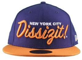 Dissizit New Era Fitted 59Fifty NY Hat Navy Orange new York City image 2