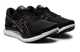New ASICS Men GLIDERIDE Black Gold Marathon Running Shoes Sneakers 1011A... - $175.50