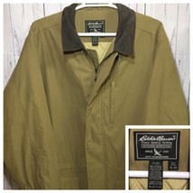 EDDIE BAUER Men's SUEDE Leather Jacket Coat Size XL Heavy Winter Excellent - $29.41