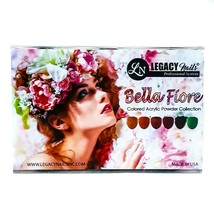 Legacy Nails BELLA FIORE 6 pcs Colored Acrylic Powder Collection @0.25oz ea - $18.31