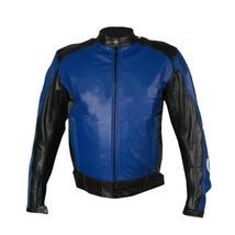 Blue Biker Racing Leather Jacket - $300.00