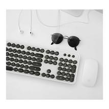 Actto KBD47 USB Wired Retro Korean English Keyboard (White) image 2