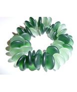 Beautiful Czech Glass Lentil Beads - Matte Dark & Light Olive Green Bead... - $8.99