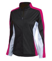 NEW CHARLES RIVER APPAREL 5494 WOMEN'S ENERGY JACKET BLACK/HOT PINK/WHITE - $39.99