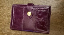 Coach Purple PATENT Leatherware Wallet - $23.38