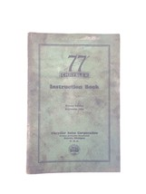 1929 Chrysler 77 Instruction Book Second Edition OEM Original - $39.99