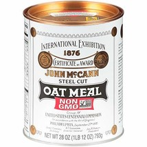McCann's Irish Oatmeal, Traditional Steel Cut, 28 Ounce Pack of 4