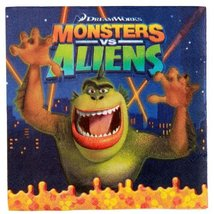Monsters vs. Aliens Lunch Napkins (16 count) Party Accessory - $5.87
