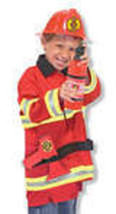 Fireman Role Play Costume Set 3-6 Years - $30.00