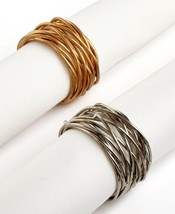 Excell Set of 4 Twisted Wire Napkin Rings - $23.79 CAD