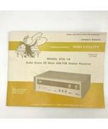 Realistic Model STA-18 Stereo Receiver Original Owner Manual 31-2048 Gui... - $23.95