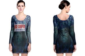 Alice cooper long sleeve bodycon dress