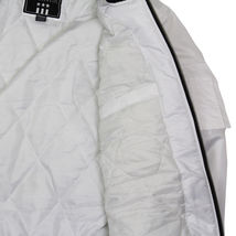 Contender Men's Premium Water Resistant Padded Zip Up Flight Bomber Jacket White image 5