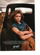 Leann Rimes teen magazine pinup clipping jean shirt by a truck age 15 Got Milk