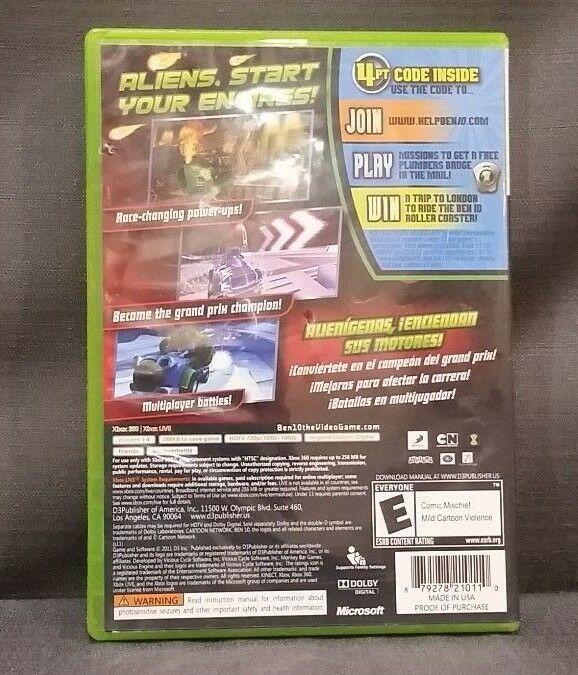 Ben 10: Galactic Racing (Microsoft Xbox 360, 2011) Video Game