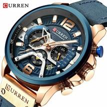 CURREN Watch Mens Watches Top Brand Luxury Men Casual Leather Waterproof Quartz - $31.41