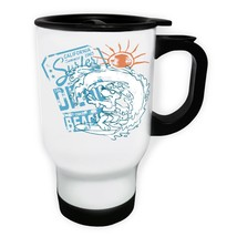 California Surfer Summer 1965 Beach White/Steel Travel 14oz Mug y109t - $17.79