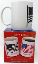 USA United States Flag Wave On Heat Activated Color Changing Coffee Mug Cup - $9.95