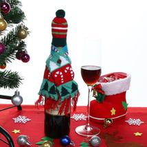 (03)Hat Scarf Wine Hold Bottle Cover Decoration Home Party Christmas Win... - $14.00