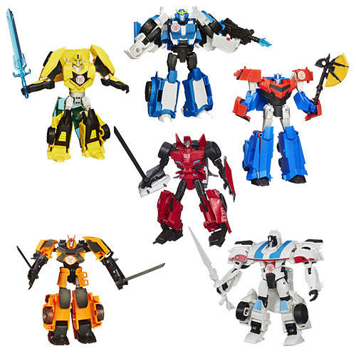 Image 1 of Transformers Robots in Disguise Warriors Action Figures (8) Wave 3, 6+ Hasbro