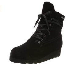 BEARPAW Womens Harmony Ankle Boot Black Size 6 Lace Up MSRP $99 - $63.99