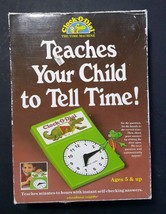 Vtg CLOCK O DIAL Kids LEARN To TELL TIME ~ Board Game Child Educational ... - $24.26