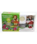 Vintage W A Statford 111472 Porcelain Bisque Flower Girl Candle Holder 1... - $19.79