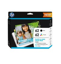 HP 62 Black And Tri-color Original Ink Cartridges With Photo Paper And E... - $56.46