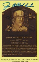 Jim 'Catfish' Hunter Signed Autographed Hall of Fame Plaque Postcard - $24.95