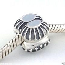 Authentisch Pandora Zwei einer Art Silber W / Grau Emaille Clip Charm 79... - $40.88