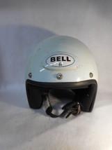 Vintage White Bell II 2 Helmet Motorcycle Car Racing Large - $137.61