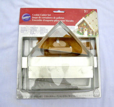 Wilton 3 Pc Christmas Ginger Bread House Cookie Cutter Set New Sealed  - $15.00