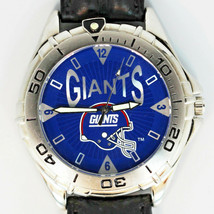 New York Giants, New NFL Fossil ,Unworn Mans Vintage 1998 Leather Band Watch $85 - $84.00