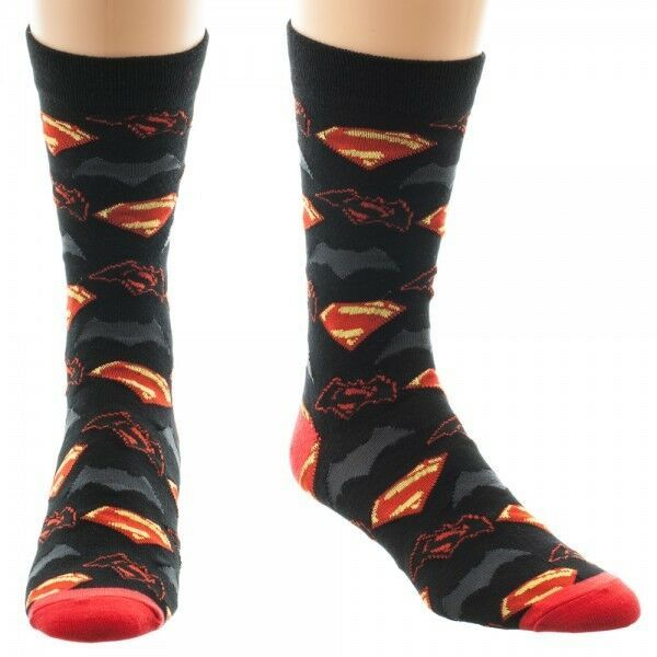 Primary image for Batman Vs Superman Dawn Of Justice Movie Dc Comics Adult Crew Socks