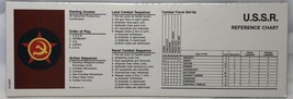 1984 - 1987 Axis & Allies Board Game Pieces - Reference Chart USSR - $9.79