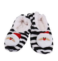 Women's 3 Pack Sherpa Lined Soft Christmas Holiday Reindeer Slippers Socks Shoes image 5