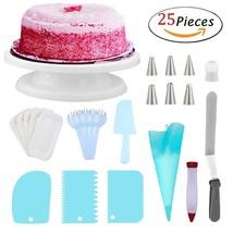 5 Pcs Cake Decorating Turntable Supplies Set w/ 11.4'' Revolving Rotatin... - $14.73