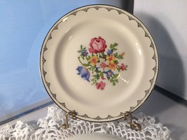 "Homer Laughlin Petit Pointe 6.5"" Plates Set 7 (P1860E) - $9.00"