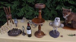 pedestal ashtray danish design 1960 Victorian plant stand art deco mid century image 8